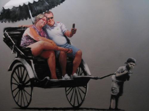 Banksy Americans in rickshaw